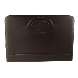 Porta-Documentos Hombre Titto Bluni color marrón en Piel