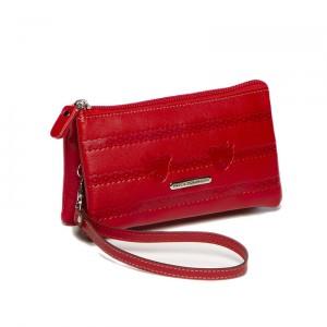Monedero-billetero mujer Paola Dominguín color rojo en piel