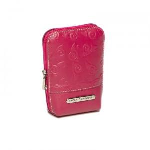 Pitillera mujer Paola Dominguín color rosa en piel